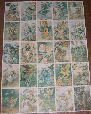 Cicely Mary M. Barker, Blackie & Sons Poster With 25 Fairies by Rainbow, England