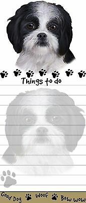 SHIH TZU BLACK DOG DIECUT LIST PAD NOTES NOTEPAD Magnetic Magnet Refrigerator