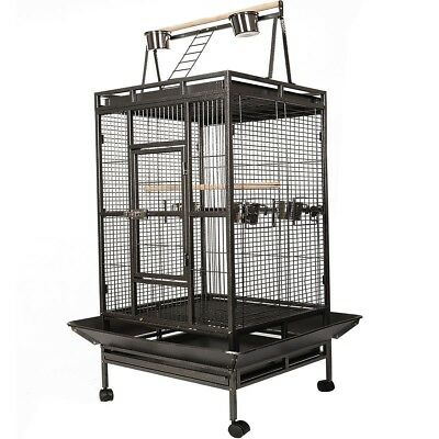 Bird Cage Large Play Top Parrot Finch Cage Macaw Cockatoo Pet