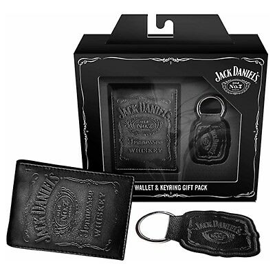 Jack Daniels Gift Pack-JD High Quality Leather Wallet and Keyring.Great gift !!!