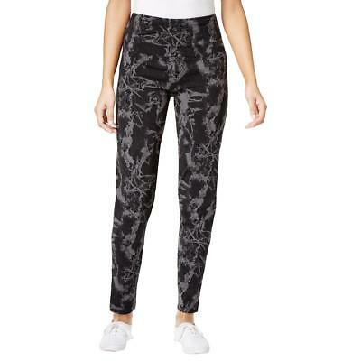 Style & Co. 7021 Womens Tummy Control Printed Pull On Athletic Leggings BHFO