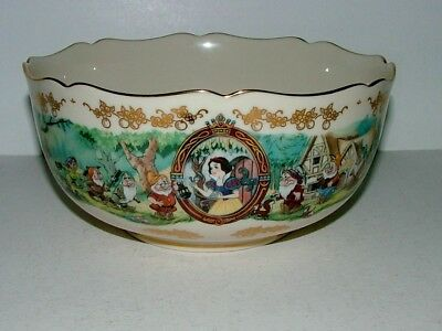 Beautiful Disney's Snow White 1996 Anniversary Bowl By Lenox In Mint Condition