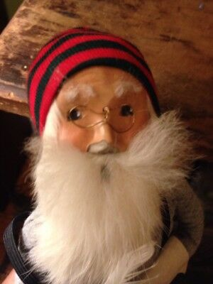 Byers Choice Caroler 1988  Santa with Feather Pen & Christmas List