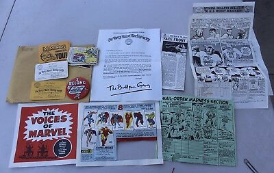 Rare Vintage Merry Marvel Society Kit Collector's Club Kit w/ Cards Pin Papers