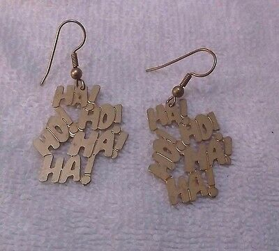 DC Comics Ha! Ho! Ho! Ha! Ha! Goldtone Pierced Earrings