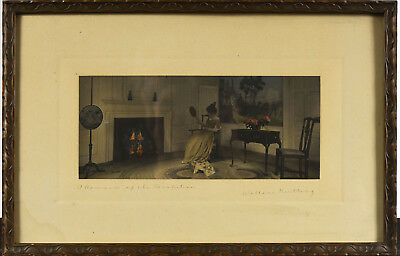 Wallace Nutting - Antique Hand Colored Photograph - Romance of the Revolution