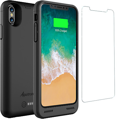 Alpatronix BXX 4200mAh iPhone X Battery Charger Case with Qi Wireless Charging