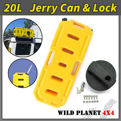 20L Jerry Can Fuel Container With Holder Spare YELLOW 4WD 4X4 Container Heavy Du