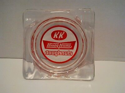 Vintage Krispy Kreme Donuts Collector Advertisement Ashtray