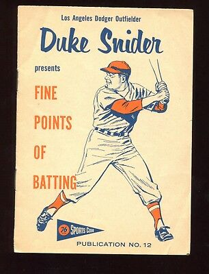1958 Union Oil 4x6 Booklet Duke Snider EX Los Angeles Dodgers Scarce Test Issue