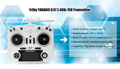 FrSky TARANIS Q X7 2.4GHz 16CH Transmitter Open TX Firmware Flight Data Logging