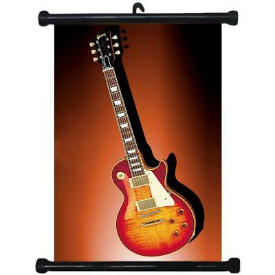 sp217021 Acoustic Electric Guitar Music Wall Scroll Poster For Band Room Shop