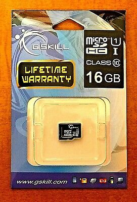 G.SKILL 16GB Micro SDHC Fast Flash Memory Card Class 10 UHS-1 Micro SDXC Card