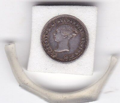 1843  Early  Queen Victoria  Maundy  Two  Pence  (m2d) Silver (92.5%)  Coin