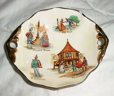 Vintage Porcelain Royal Winton Small Bowl~Dish~Old English Markets Scene
