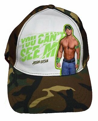 quality design 5bdbd 6f89b ... sweden wwe john cena hat you cant see me camo style adjustable kids  size birthday 4df9b