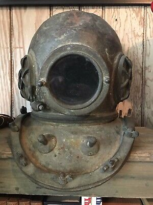 Antique Ww 2 Era Japanese Toa Diving Helmet- 1930S With Salty Patina