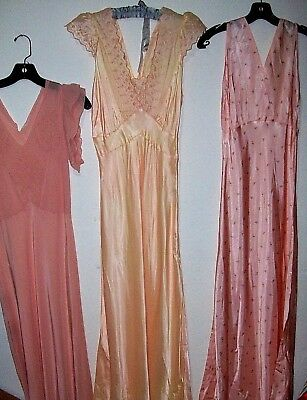 Vintage 1940s 1950s Silk Nightgowns Slips Dressing Gowns Wholesale Lot Pinup