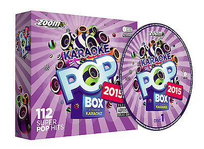 Zoom Karaoke Pop Box 2015 - 6 CD+G Set - 112 Pop Songs from the year 2015 - New!