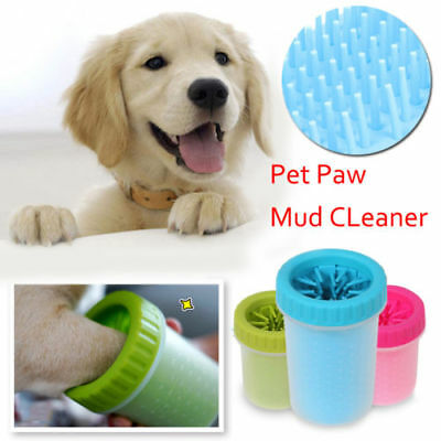 UK Portable Pet Paw Plunger Mud Cleaner Washer Cup Mudbuster Dog Cat Pet Paw S L