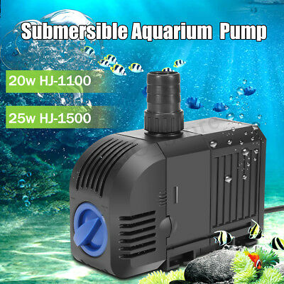 900/1500L/h Submersible Aquarium Fish Tank Pond Water Pump Waterfall Fountain