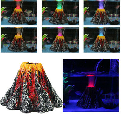 Volcano Shape Air Bubble Stone Rockery Pump Aquarium Fish Tank Ornamentss
