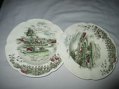 2 Johnson Brothers Bros England The Road Home 22.5cm Rimmed Soup Plates