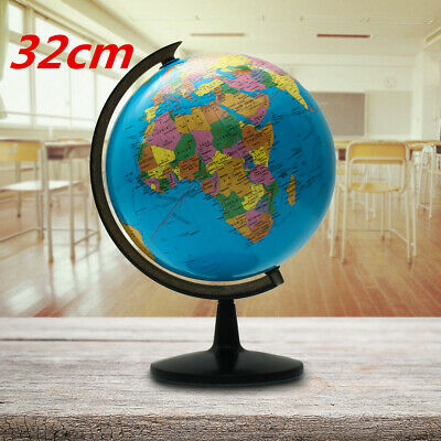 "13"" Rotating World Map Globes Table Decor Ocean Geographical Earth Desktop Globe"