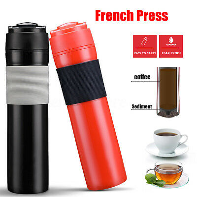 French Press Coffee Maker Travel Mug Cafetiere Drink Water Cup BRBHOM 350ml/12oz