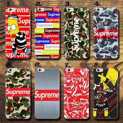 Hot Cool Supreme Camouflag Logo UV Case Cover Apple iPhone Huawei P9 LG iPhone X
