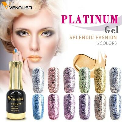 #60752 venalisa 12 colors nail art diy soak off gel uv led 12ml nail enamel UV