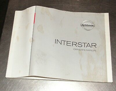 Nissan Interstar Owners Manual Part Number OM7E0-X70E0E Genuine Nissan Part