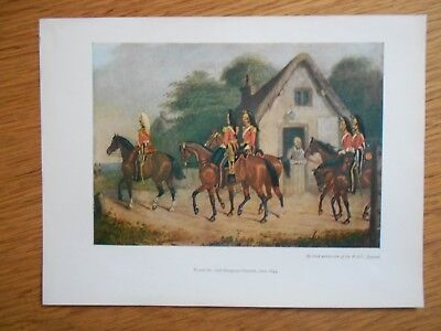 VINTAGE MILITARY PRINT- 2ND DRAGOON GUARDS c 1844
