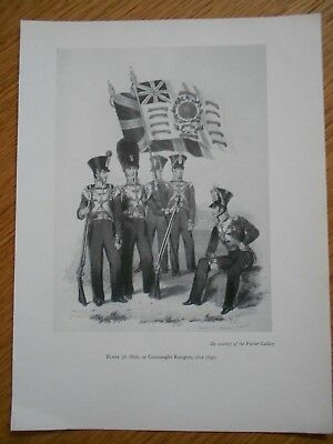 VINTAGE MILITARY PRINT-88TH OR CONNAUGHT RANGERS c 1840