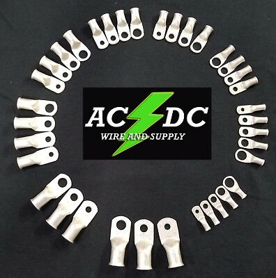 AC/DC WIRE TINNED Copper Lug Ring Terminals Battery Wire Welding Cable AWG