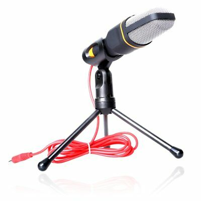 Professional Condenser Audio Sound Microphone PC Laptop Studio Stand Shock Mount