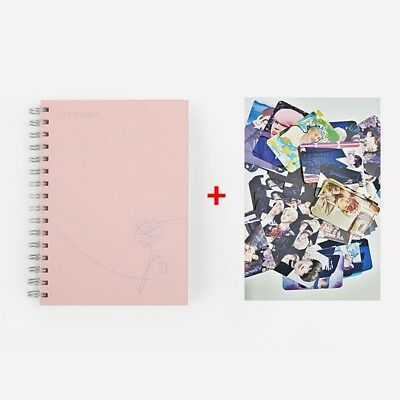 BTS BANGTAN BOYS Official MD - Notebook (Love Myself) + Random BTS Photo Card 3p