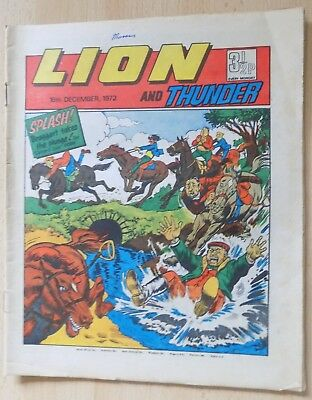 LION and THUNDER Comic - Issue Dated 16th December 1972