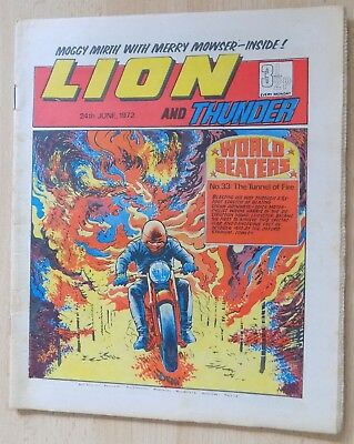 LION and THUNDER Comic - Issue Dated 24th June 1972