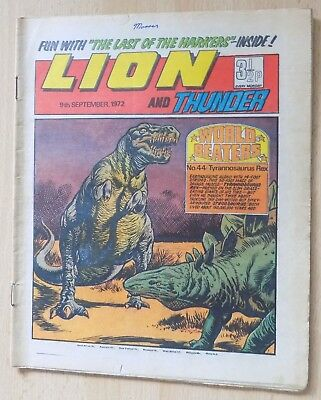LION and THUNDER Comic - Issue Dated 9th September 1972
