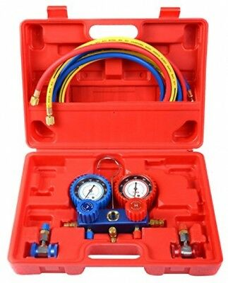Goplus R134A Manifold Gauge Set AC A/C 6FT Colored Hose Air Conditioner W/ Case