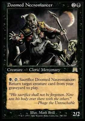 Doomed Necromancer ~ Onslaught ~ Excellent+ ~ Magic The Gathering