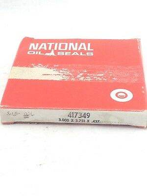 Federal Mogul National 417349 Oil Seal 3.000X3.751X0.437 (A833)