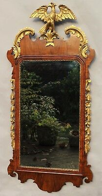 Antique Mahogany and Parcel Gilt Mirror Waring and Gillows 19th Century