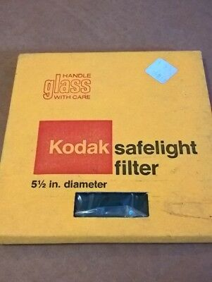 NEW/NOS Kodak Safelight Filter 5 1/2 Inch Diameter 140mm Amber 10867 CP Darkroom