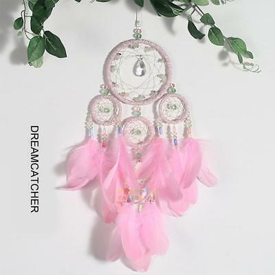 Handmade Dream Catcher with Feather Dreamcatcher Car Wall Hanging Ornament Gift