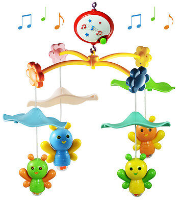 Baby Nursery Cot Mobile with Musical Soft Lullaby Sounds