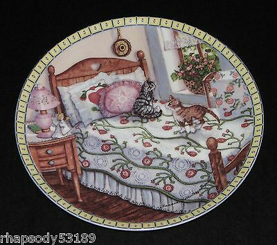 A Sunny Spot - Hannah Hollister Ingmire - Cozy Country Corners Plate 1991 cats