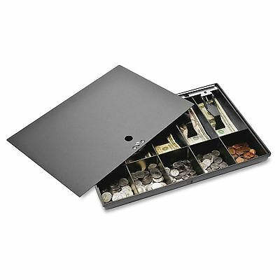 Sparco Money Tray, with Locking Cover, 16 x 11 2-1/4 Inches, Black (SPR15505)
