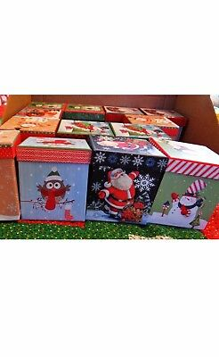 Lindy Bowman LOT of 10 Christmas 3 inch Gift Boxes NEW mixed varieties